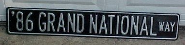 86 grand national way sign