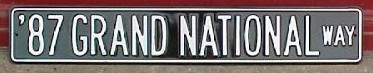 87 grand national way sign
