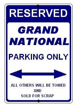 blue buick grand national sign