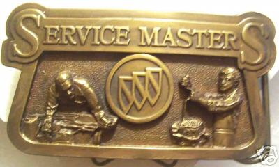 BUICK SERVICE MASTERS BELT BUCKLE
