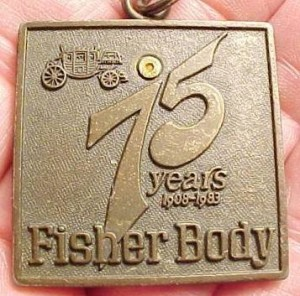 Fisher Body 75 years keychain