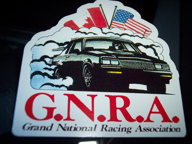 GNRA buick plaque