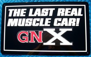buick gnx muscle car sign
