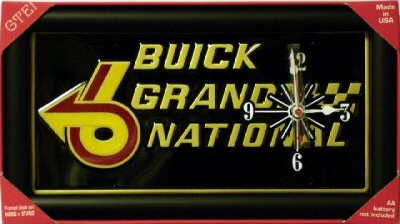 buick grand national desk clock