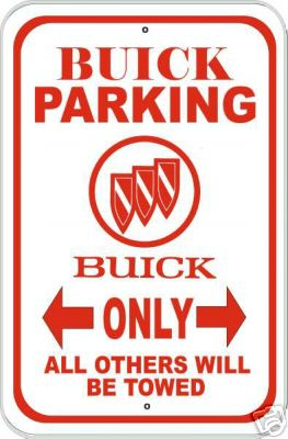 buick parking sign