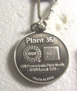 buick power train plant 36 closing keychain 2
