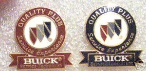 buick quality plus pin badges