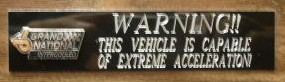 buick warning plaque