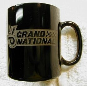 grand national  logo coffee cup