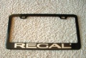Turbo Buick Regal License Plate Frames