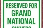 Buick Grand National Parking Only Signs