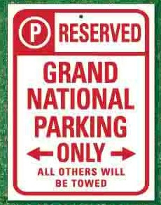 reserved for buick grand national sign