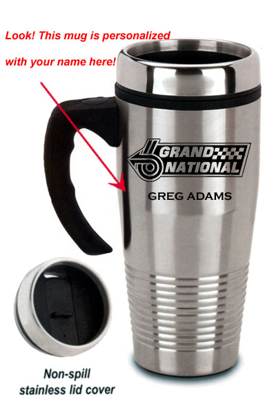 stainless steel buick grand national travel mug