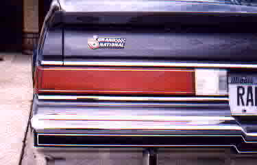 trunk emblem 1982 Buick Grand National