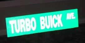 turbo buick ave sign