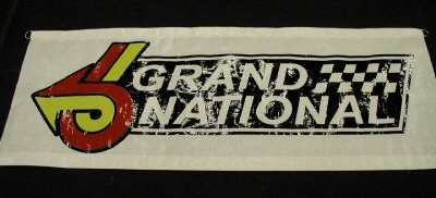 white buick GN banner