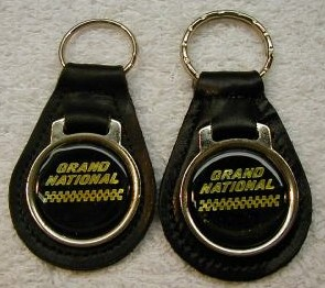 yellow letter grand national keyfob