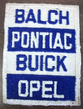 Balch Pontiac Buick Opel Dealership Patch