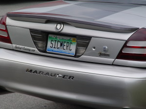 mercury marauder license plate
