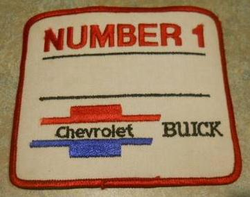 number 1 chevrolet buick patch