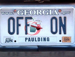 off on license plate