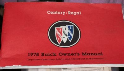 1978 buick regal turbo owners manual