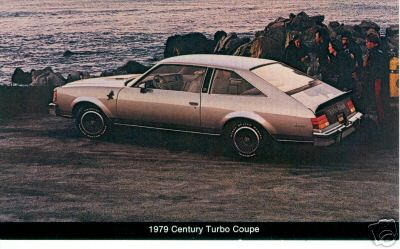 1979 century turbo coupe postcard