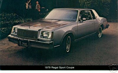 1979 regal sport coupe postcard