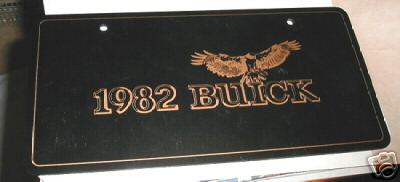 1982 buick plate