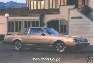 1985 regal coupe postcard