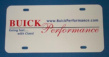 BUICK PERFORMANCE CLUB PLATE