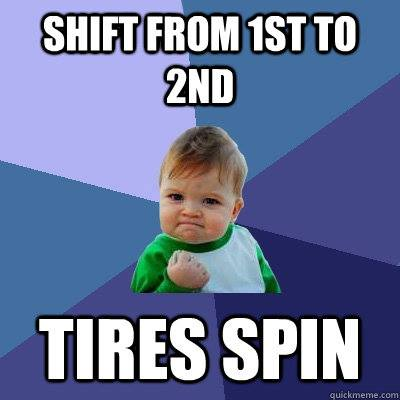 tires spin
