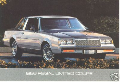 1986 regal limited coupe postcard