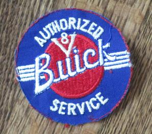 1960s V 8 buick authorized service patch no border