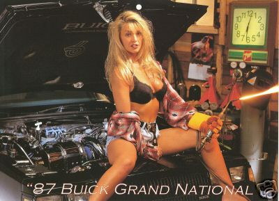 girl on buick gn calendar page