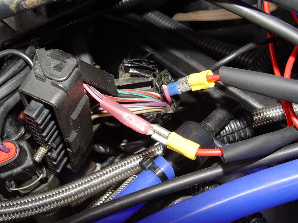 ignition module hot wire
