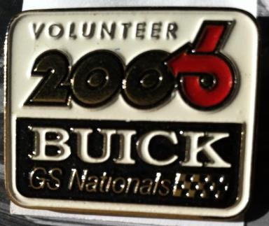 2006 Buick GS Nationals Volunteer Pin