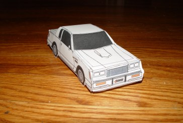 Turbo Regal Hand Crafted Paper Car