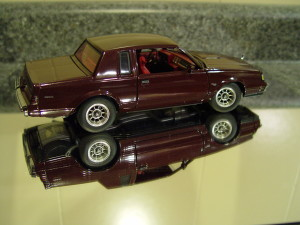 GMP 1986 buick t-type dark red