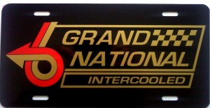 Intercooled License Plate Red Gold