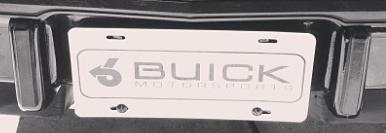 buick motorsports front license plate