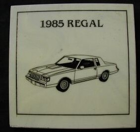 buick regal marble drink coaster