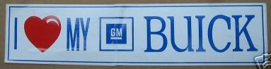 GM Buick sticker