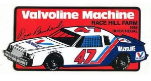 ron bouchard valvoline buick regal stock car sticker
