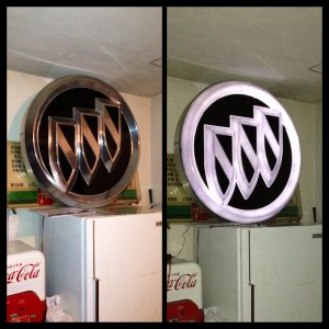 43inch tri shield led sign