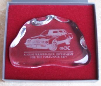 CRYSTAL PAPERWEIGHT BUICK GNX