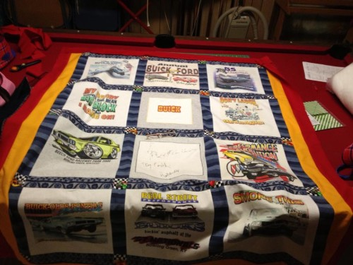 buick blanket made from shirts