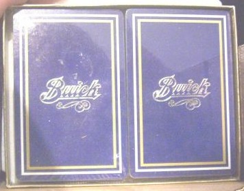 buick script logo playing cards