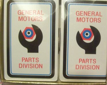 gm parts division playing cards