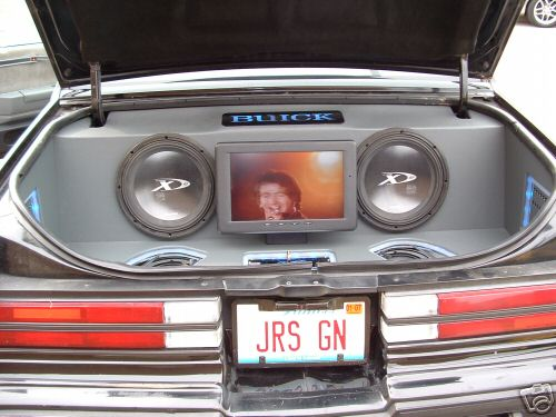 buick grand national tv set up
